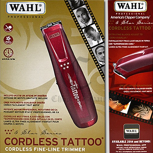 Wahl 5 star cordless tattoo trimmer 8491 for Wahl tattoo clippers