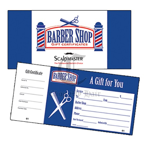 Barber Shop Gift Certificates (Book of 50)