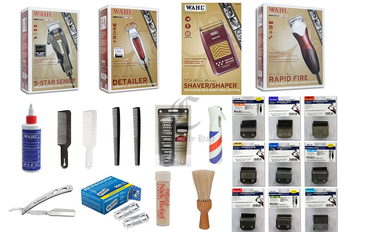 Barber Kit : Wahl Professional Barber Corded Clipper & Trimmer Start Up Kit