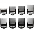 Wahl Premium Cutting Guides w/ Metal Clips 8-Pack and Organizer Tray