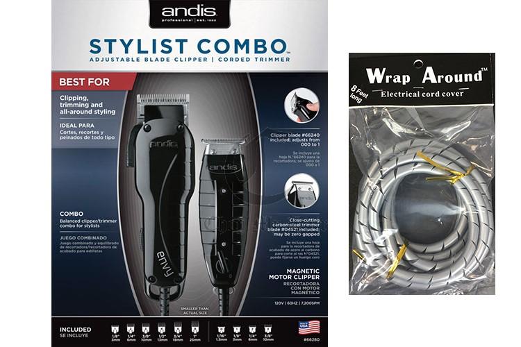 Andis Stylist Combo Clipper Trimmer Kit 66280 Free Cord Detangler